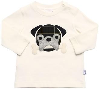 Il Gufo Dog Patch Cotton Jersey T-Shirt