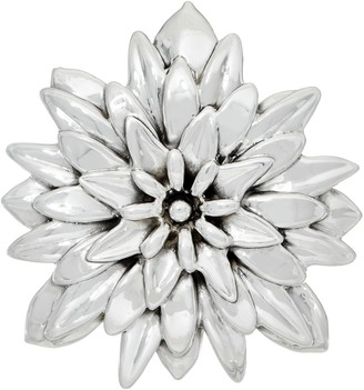 Dahlia Or Paz Sterling Polished Pin / Pendant