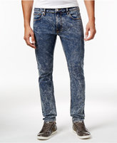 GUESS Men's Indigo Skinny-Fit Acid Wash Jeans