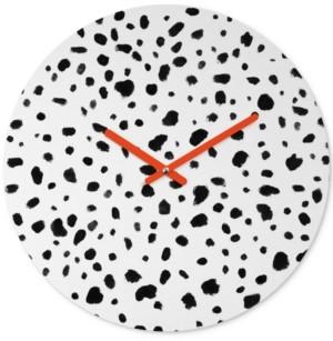 Deny Designs Rebecca Allen Miss Monroes Dalmatian Round Clock