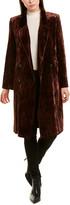 The Kooples Wrinkle Velvet Silk-Blend Coat