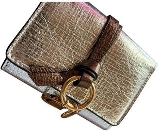 Chloé Pastille Gold Leather Wallets