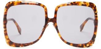 Fendi Oversized Square Tortoiseshell-acetate Sunglasses - Tortoiseshell