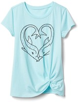 Gap Embellished beach knot tee
