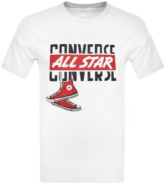 Converse Star Logo T Shirt White