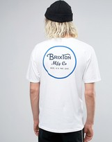 Brixton T-shirt With Back Print