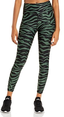 Aqua Athletic Zebra Print Knit Leggings - 100% Exclusive