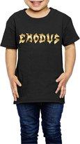 MAUCRCT Little Girls' Exodus Band Gold Logo 2-6 Toddler T-Shirt