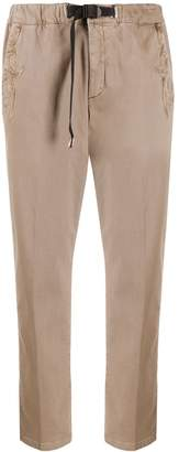 White Sand buckle-fastening embroidered trousers