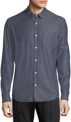 Vince Men's Button-Front Long-Sleeve Twill Shirt