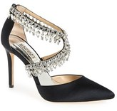Badgley Mischka Women's 'Glamorous' Crystal-Embellished Pointy Toe Pump
