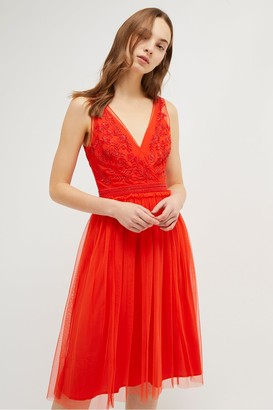 French Connection Estelle Embellished Dress