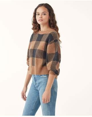 Splendid Cashmere Plaid Sweater
