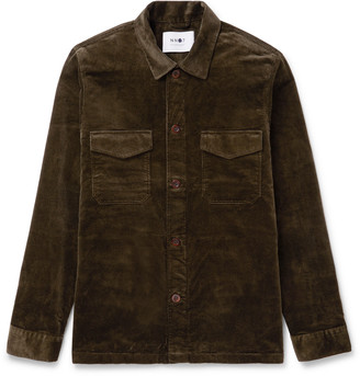 NN07 Bernard Stretch-Cotton Corduroy Overshirt
