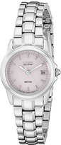 Citizen Women's EW1620-57X Eco Drive Stainless Steel Watch with Pale Pink Dial