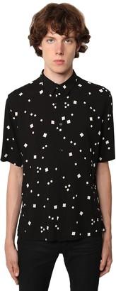 Saint Laurent Brilliant S/S Matte Viscose Shirt