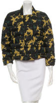 Burberry Abstract Print Down Jacket