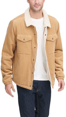Levi's Levis Men's Classic Corduroy Trucker Jacket with Sherpa Lining