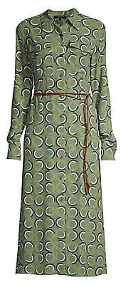 Lafayette 148 New York Women's Mandalyn Belted Abstract Shirtdress
