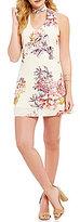 Soulmates Choker Neckline Floral Print Shift Dress