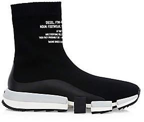 Diesel Men's Padola Logo Sock Sneakers