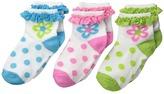 Jefferies Socks Daisy Eyelet Anklet (Infant/Toddler/Little Kid)