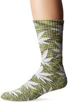 HUF Men's Streaky Plantlife Crew Sock
