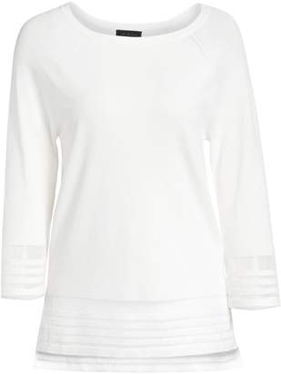 Saks Fifth Avenue COLLECTION Viscose Elite Sheer Inset Top