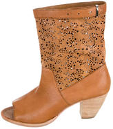Alice + Olivia Catherine Laser-Cut Ankle Boots