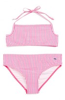 Vineyard Vines Girl's Seersucker Two-Piece Swimsuit