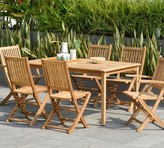 Pottery Barn Reyes 7-Piece Teak Rectangular Dining Table with Josie Dining Chair Set
