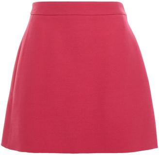 Valentino Wool And Silk-blend Twill Mini Skirt