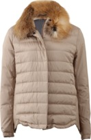 Brunello Cucinelli Technical Puffer With Fur Collar