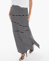 Chico's Tinley Black and White Striped Maxi Skirt