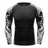 Cody Lundin Men's Comfortable Printed Fitness Sport Outdoor Style Long Sleeve T-shirt (XXL, )