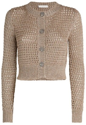 Fabiana Filippi Wide-Stitch Lurex Cardigan