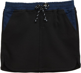 Joe's Jeans Spliced Denim & Knit Miniskirt