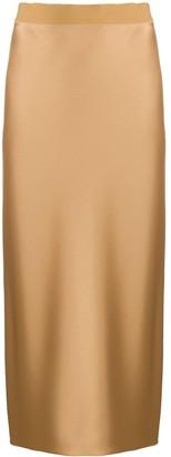 Theory Metallic-Print Slip Skirt