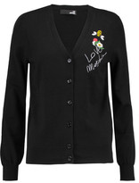 Love Moschino Embroidered Cotton Cardigan