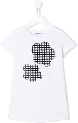 Simonetta textured grid T-shirt