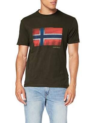 Napapijri Men's SIBU T-Shirt, (Green Forest 2 GE3), (Size :)