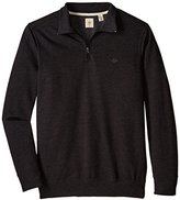 Dockers Big-Tall Quarter Zip Fleece Long Sleeve Knit Shirt