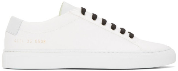 Common Projects Woman By Woman by White Canvas Achilles Low Sneakers