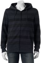 DC Men's Shoe Co Striped Zip Hoodie