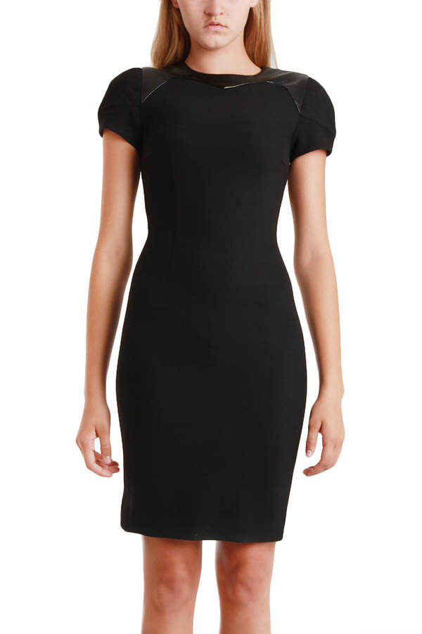 L'Agence Quilted Bra Shoulder Dress