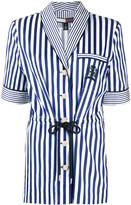 Tommy Hilfiger waist-tied striped shirt