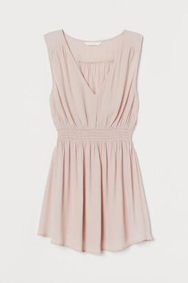 H&M MAMA Smocking-detail blouse