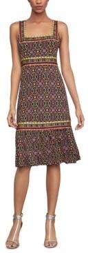 BCBGMAXAZRIA Printed Flare-Hem Dress