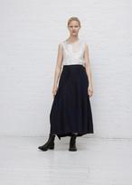 Yohji Yamamoto indigo drape patched skirt