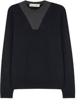 Marni Navy And Grey Wool Jumper